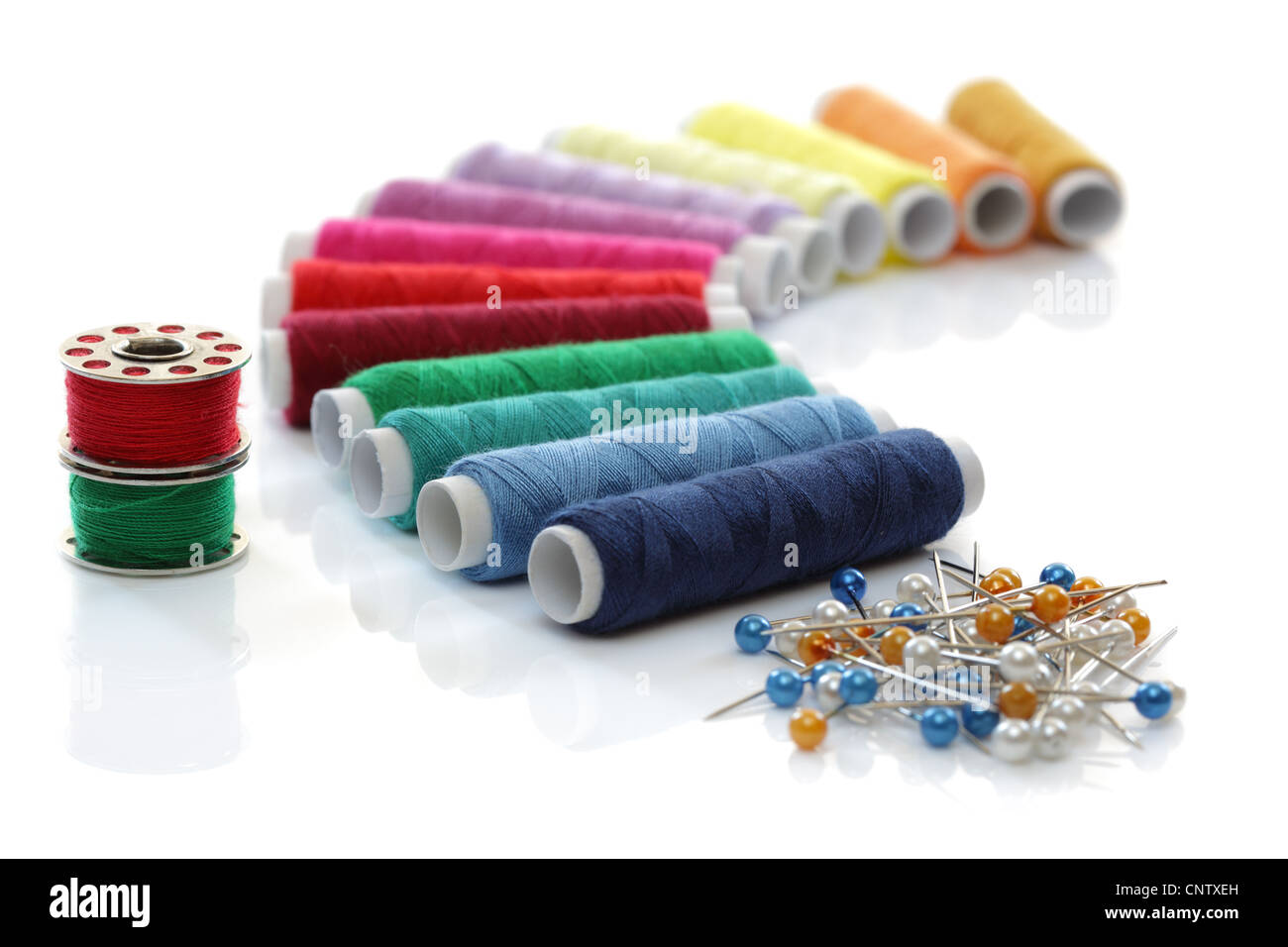 Sewing thread - Stock Image