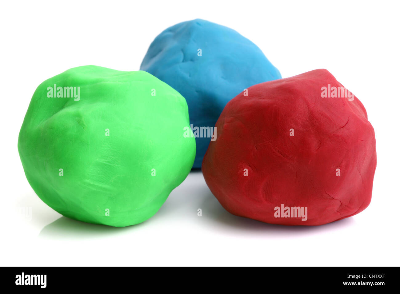 Childrens play clay Stock Photo