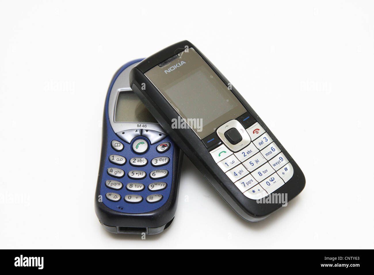 Siemens Nokia cell mobile phone - Stock Image