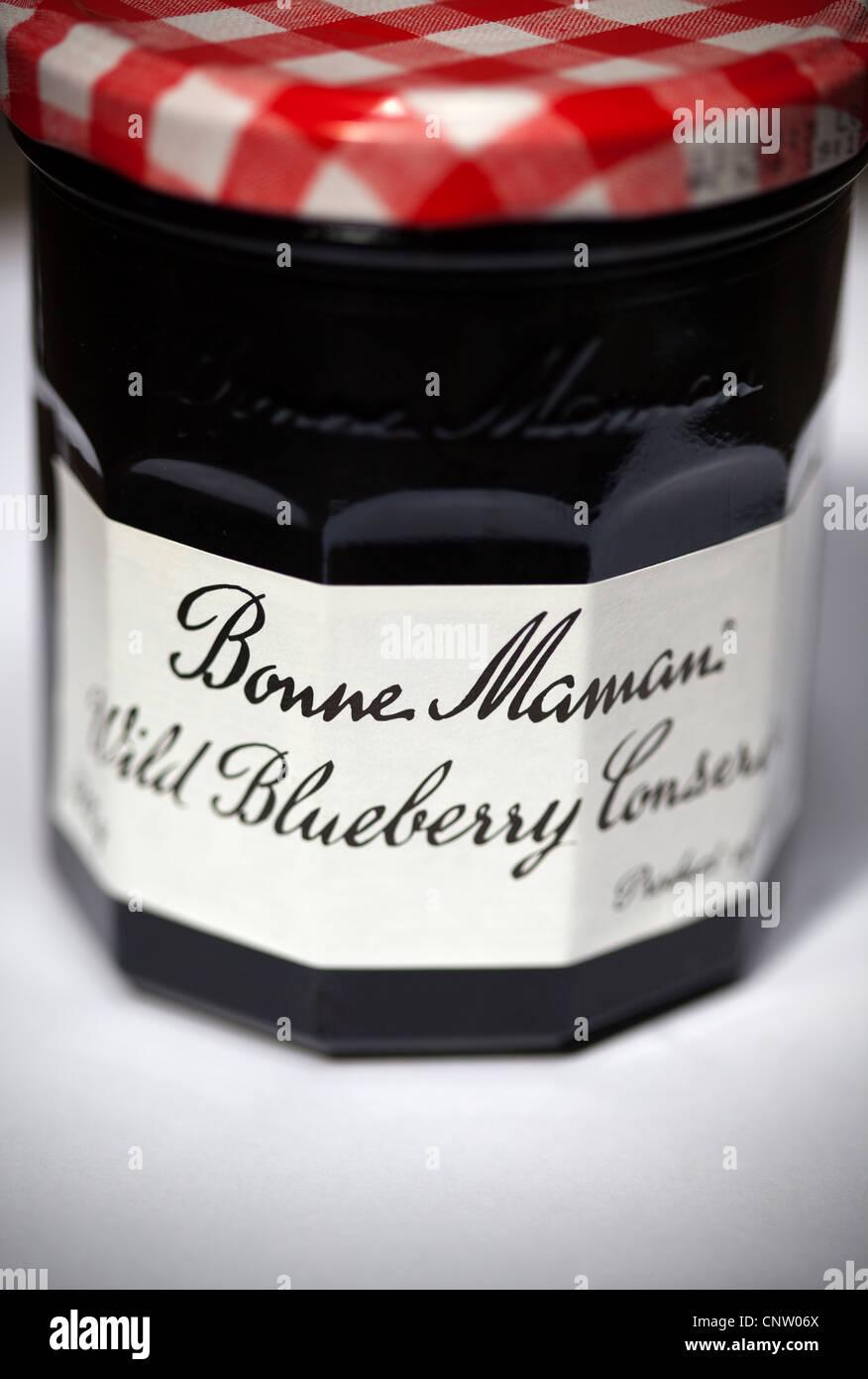 Bonne Maman Wild Blueberry  Conserve or Jam - Stock Image