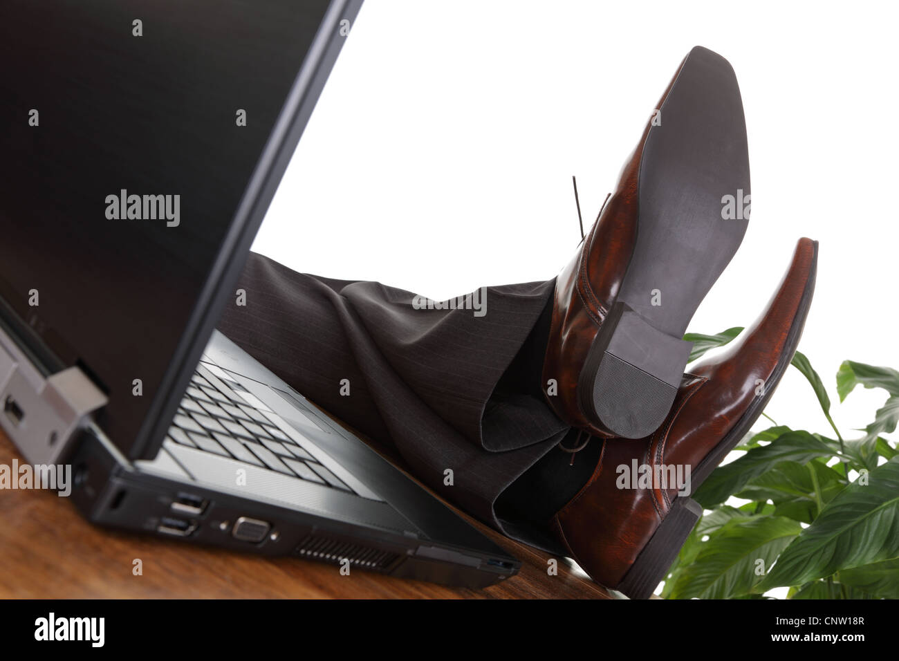 Relaxed businessman - Stock Image