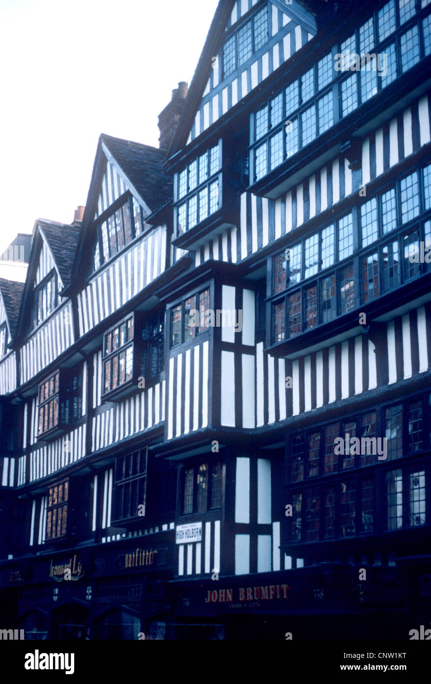 Staple Inn High Holborn London England UK Black And White Timbered Building Buildings