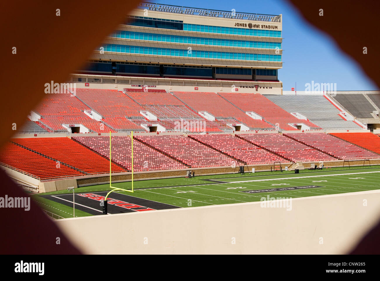 Texas Tech Football Stadium In Lubbock Tx Stock Photo Alamy