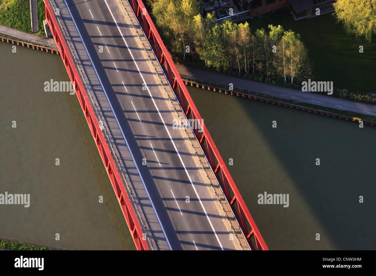bridge of Muensterstrasse, Muenster street, over Dortmund Ems channel, Germany, North Rhine-Westphalia, Ruhr Area, - Stock Image