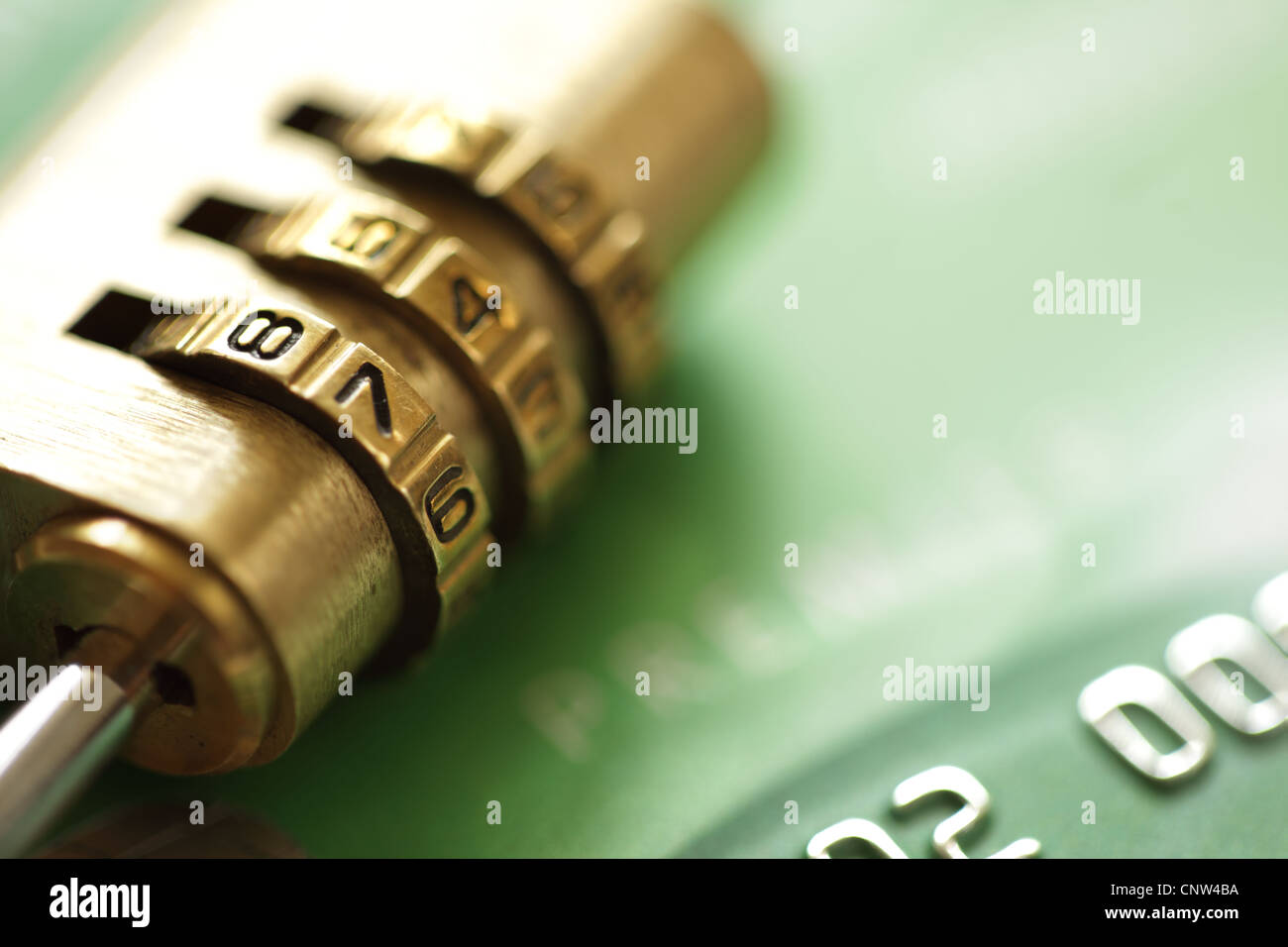 Credit card security - Stock Image