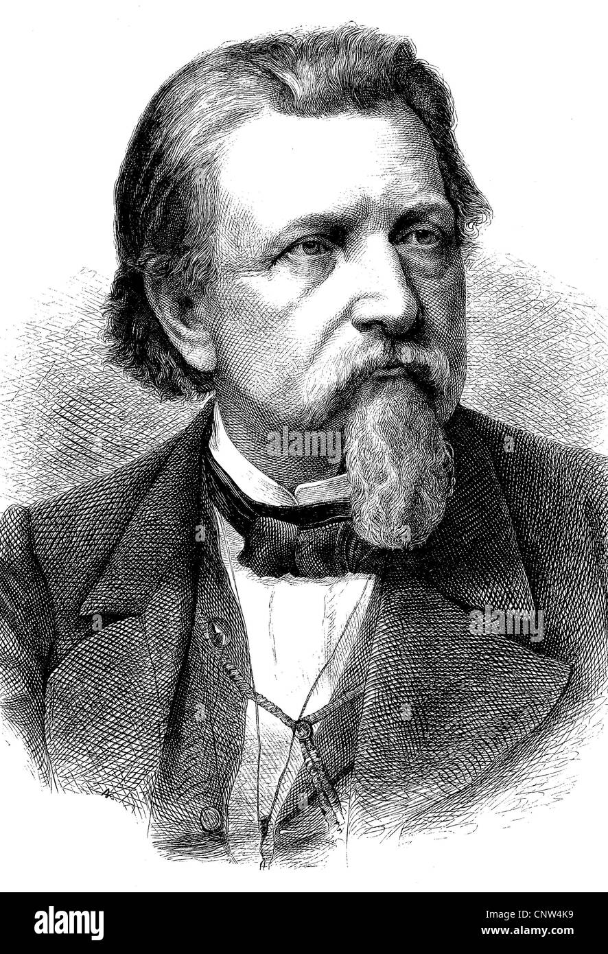 Karl Ferdinand Gutzkow, 1811 - 1878, a German writer, playwright and journalist, one of the leading voices of the Stock Photo