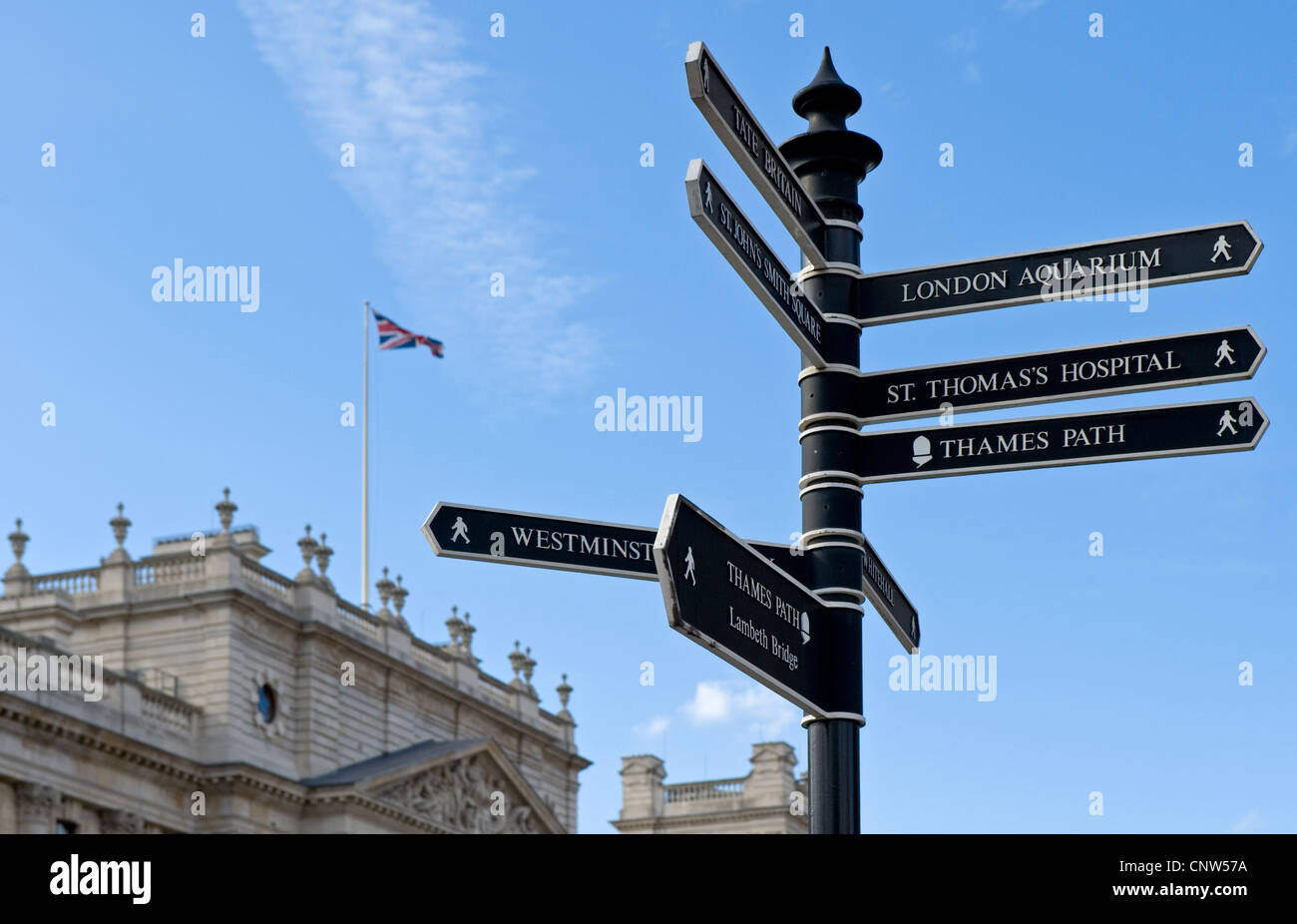 Europe England London, a touristic signal - Stock Image