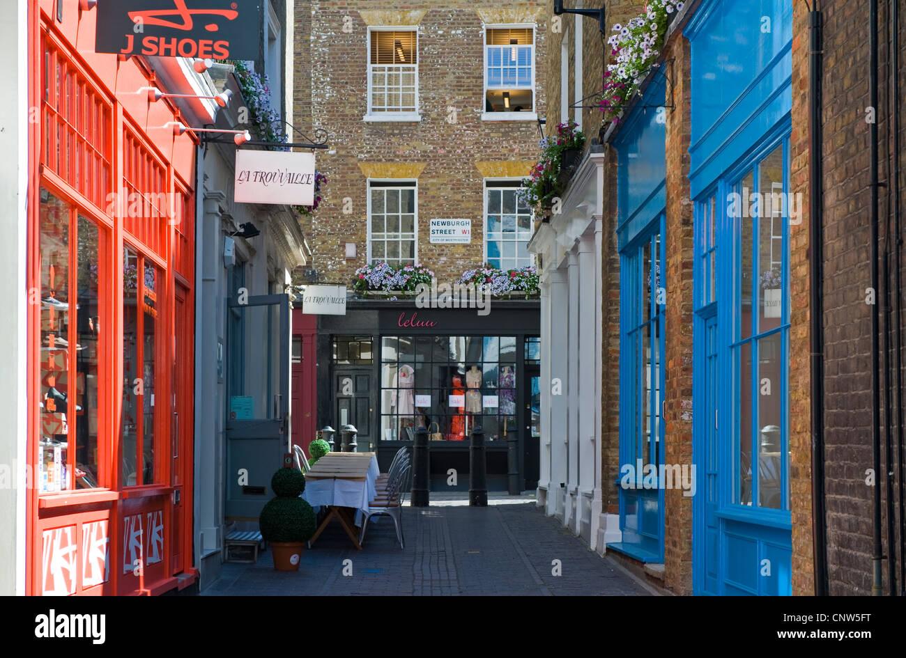 Europe England London, Carnaby street shops - Stock Image