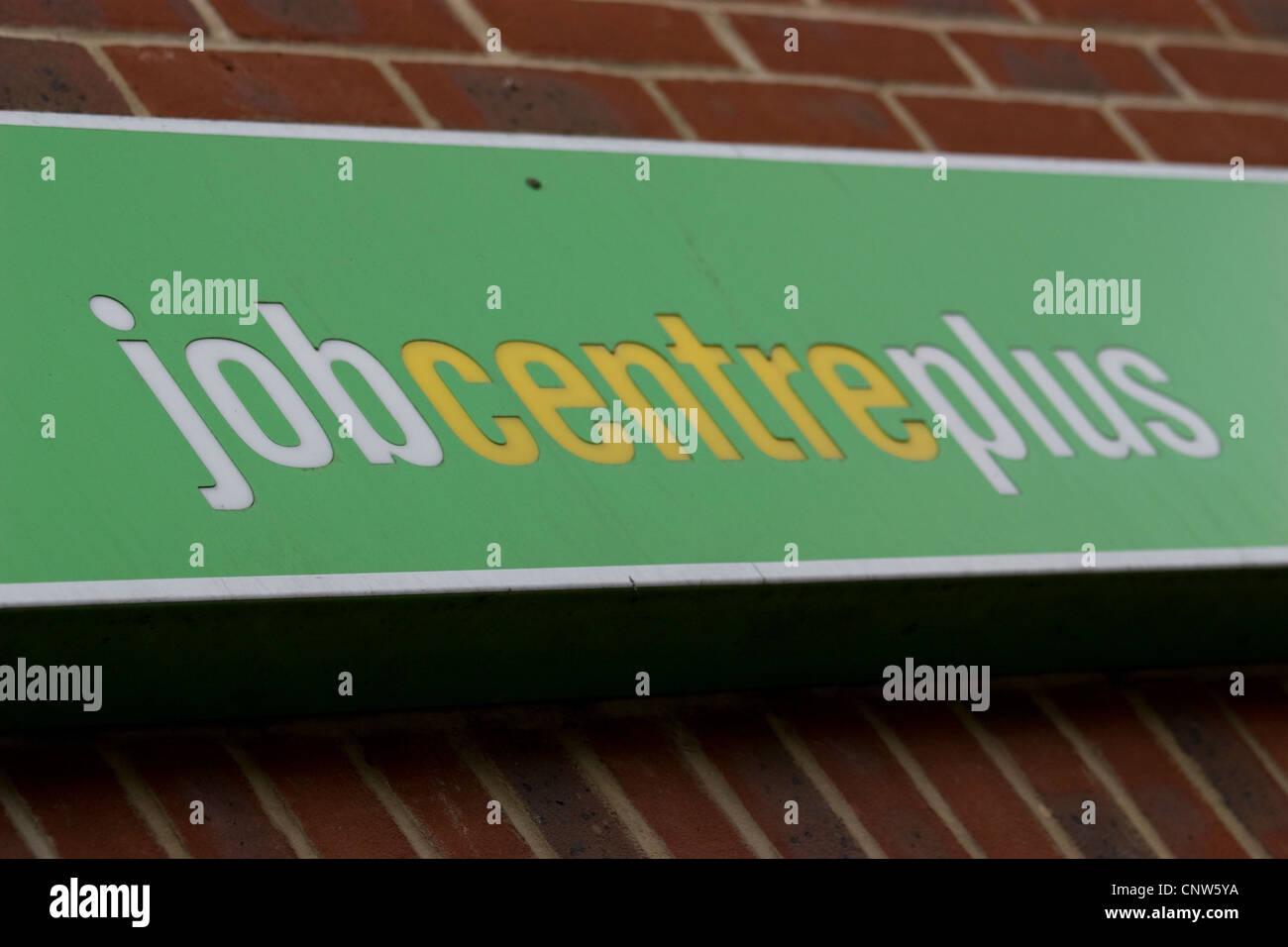 Job centre plus sign Walthamstow London - Stock Image