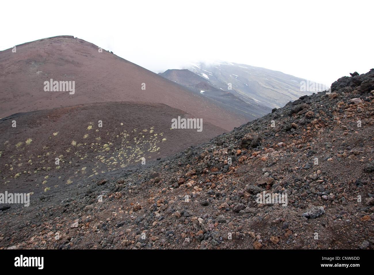 volcanic landscapes at Mount Etna, Italy, Sicilia - Stock Image
