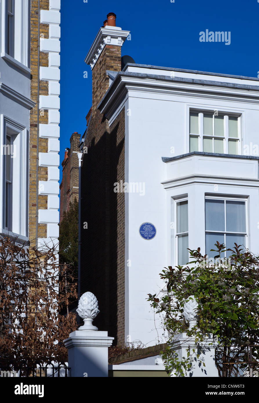 Europe England London, the Agatha Christie house in Sheffield terrace - Stock Image