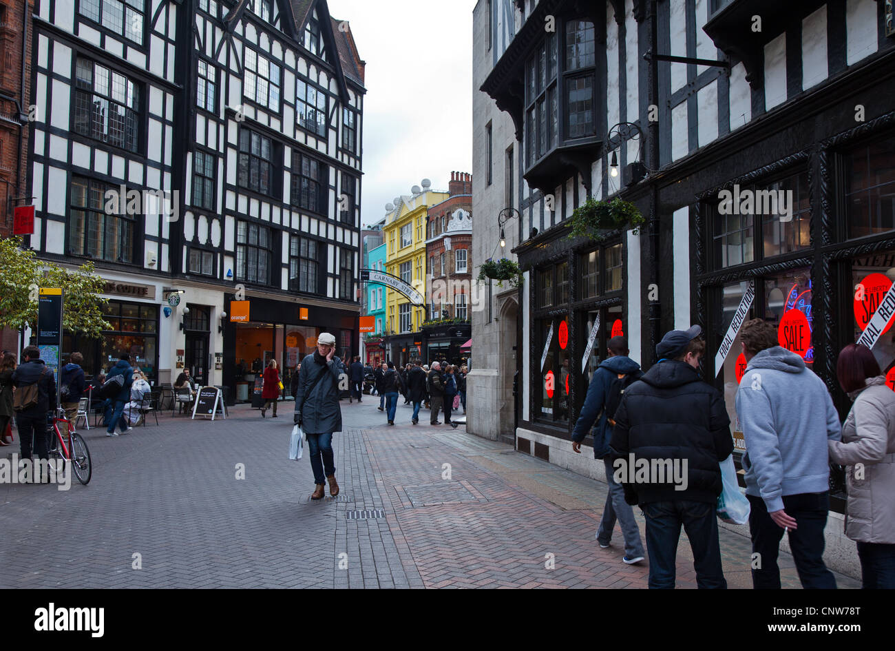 Europe England London, people in Carnaby street area - Stock Image