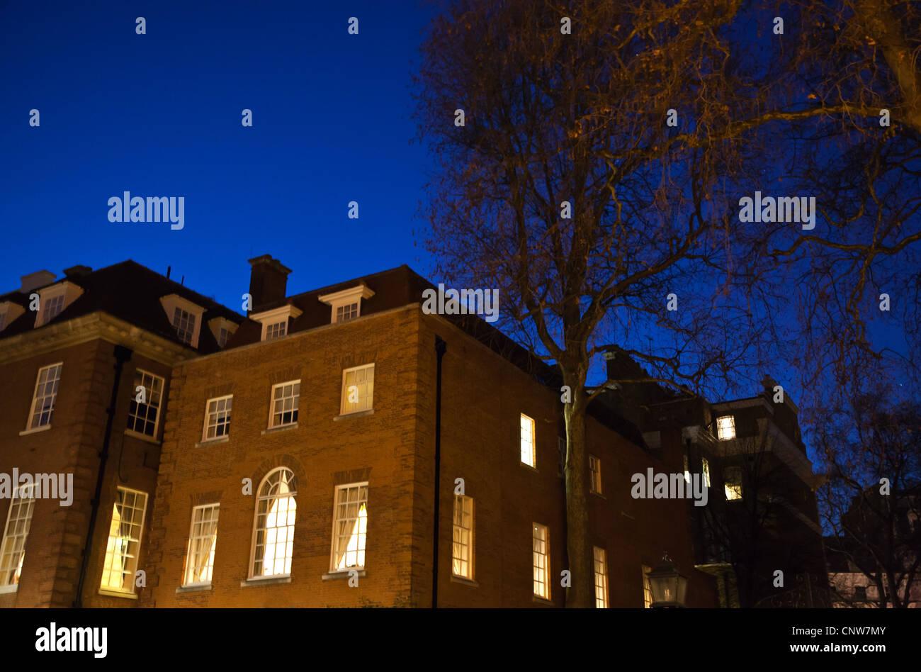 Europe England London, an house in Halkin street - Stock Image