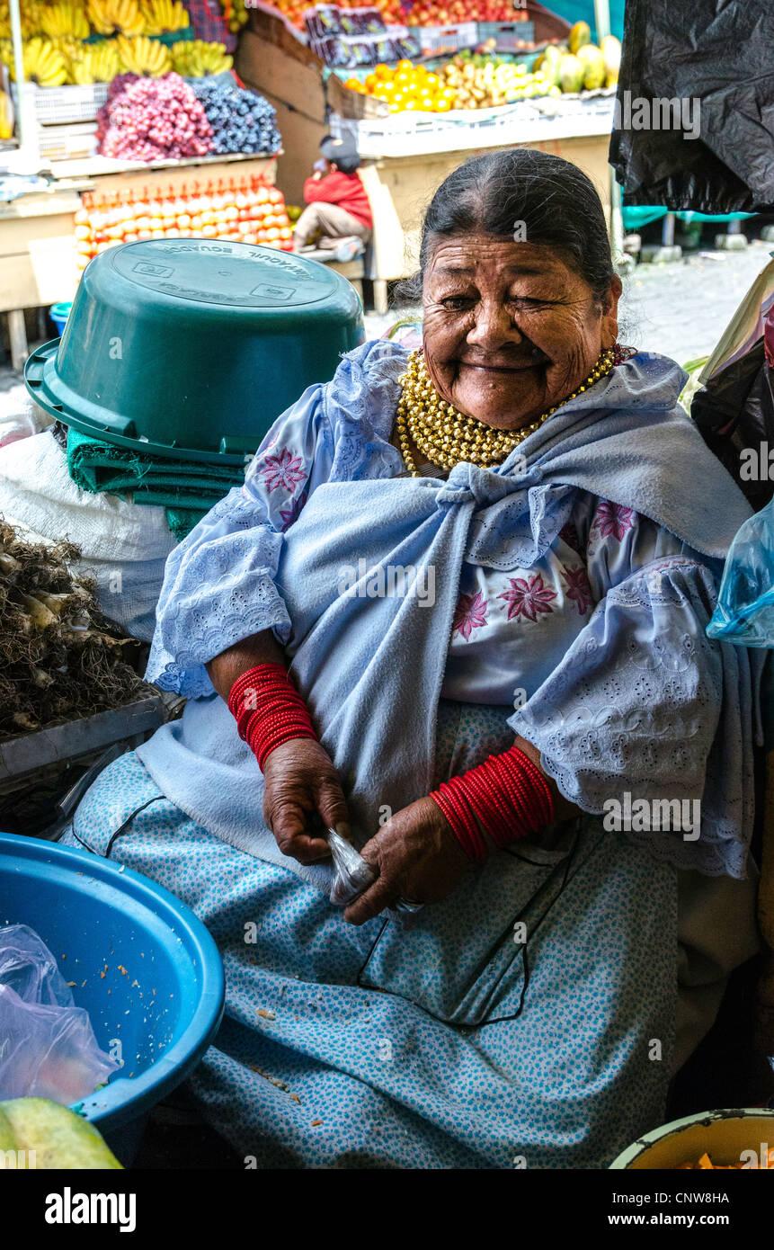Otavalo Market, Ecuador - Stock Image