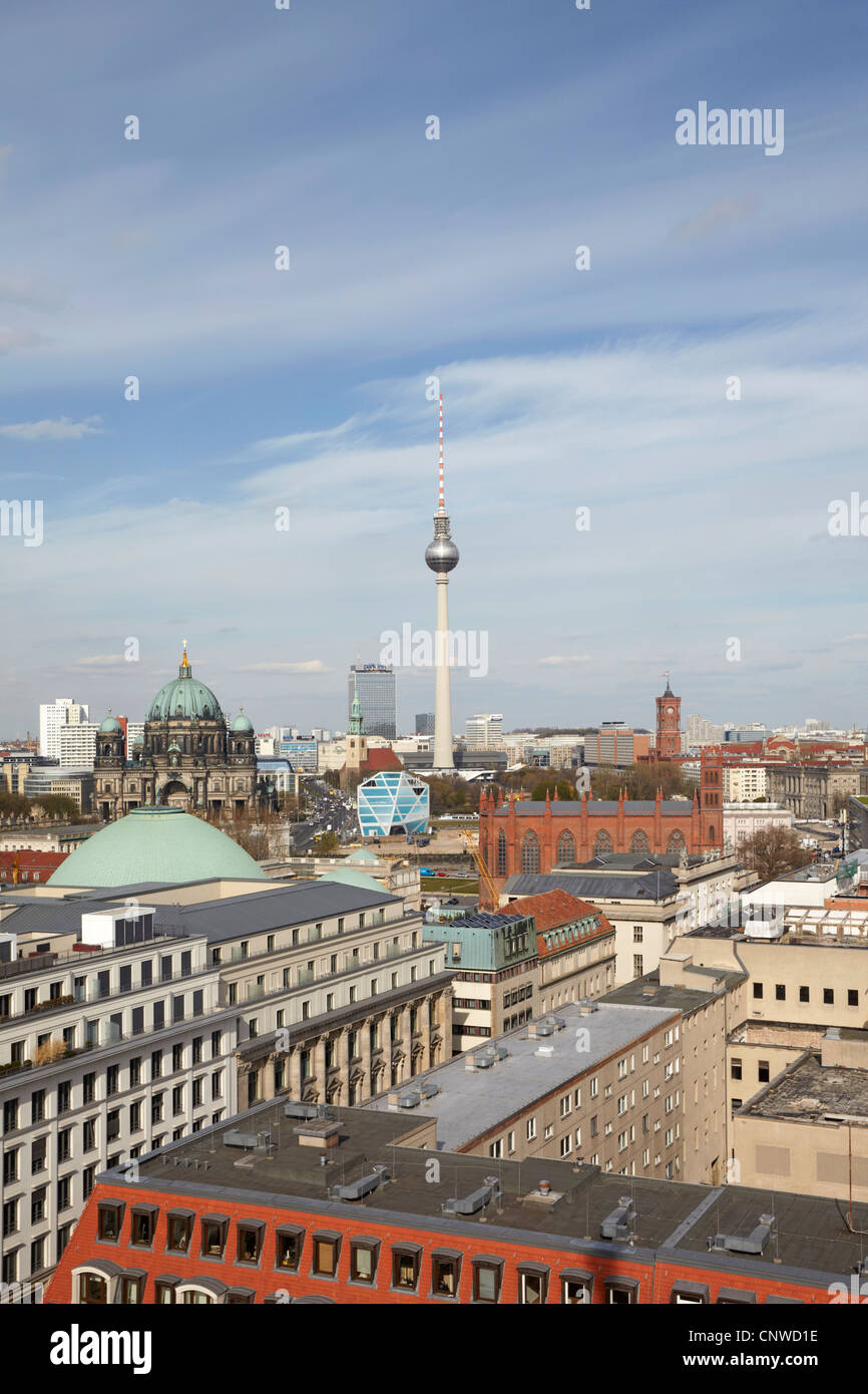 Berlin city scape from the Franzosischer Dom - Stock Image