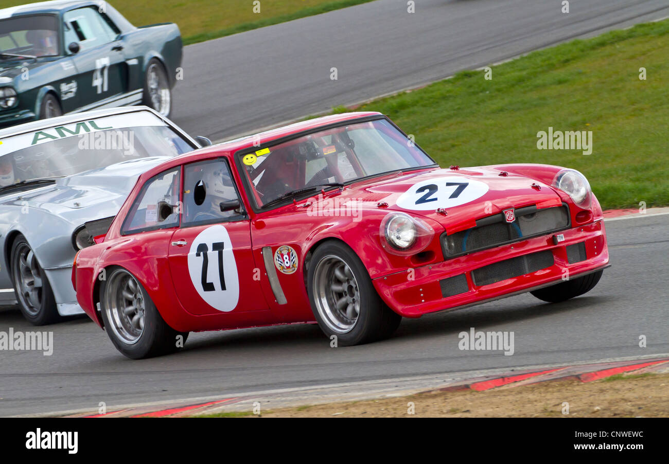 1974 MGB V8 with driver John Wilson during the HVRA V8 Challenge ...