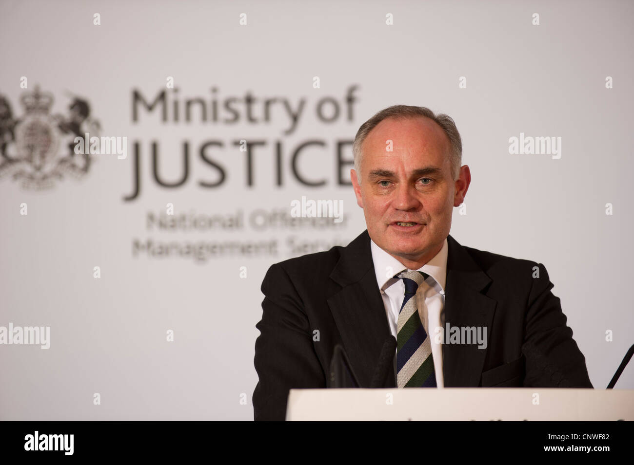 Crispin Blunt MP, Conservative Reigate, Parliamentary Under Secretary of State for Prisons and Youth Justice. - Stock Image