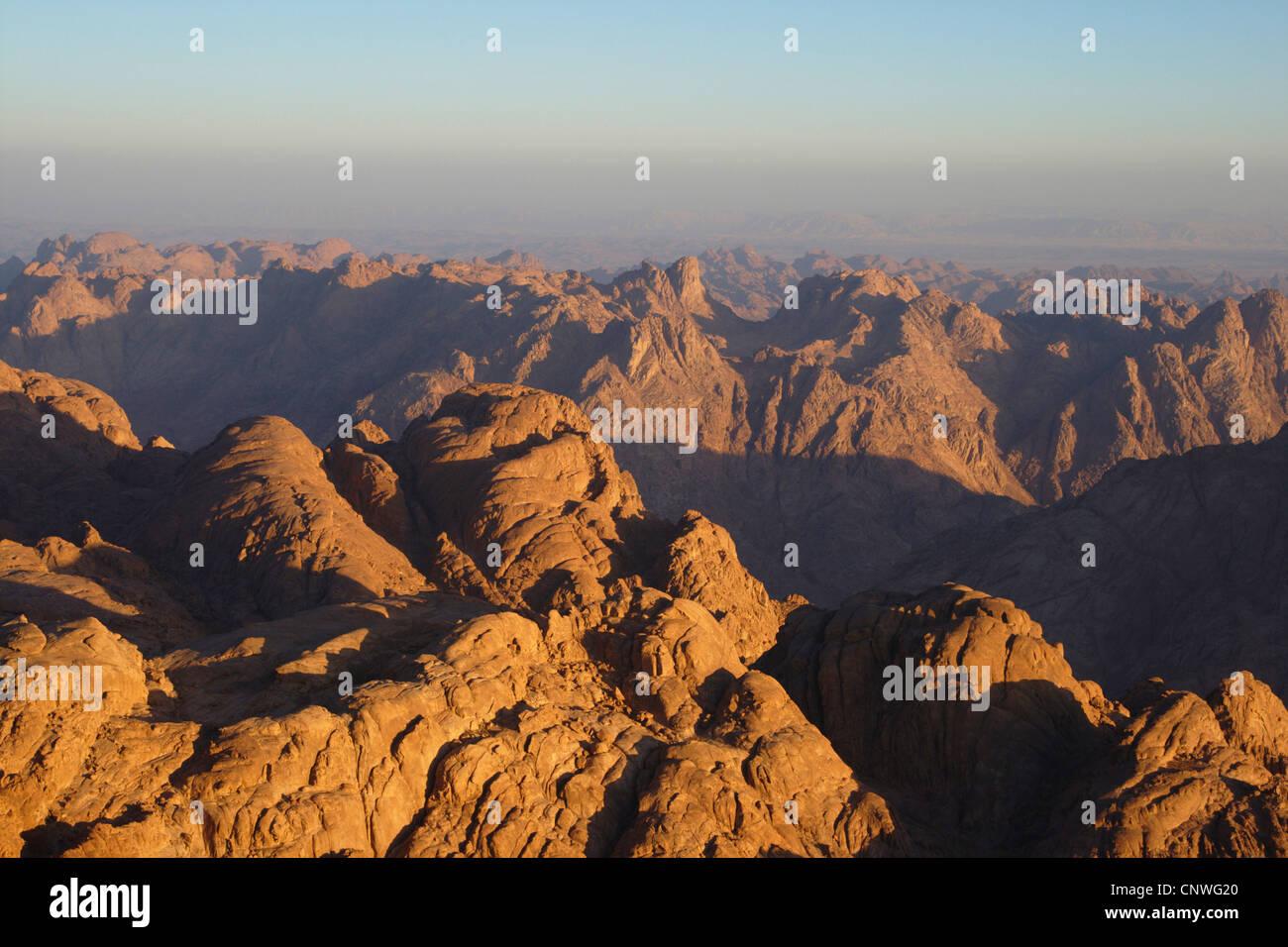 view from Mount Sinai, Egypt, Sinai - Stock Image