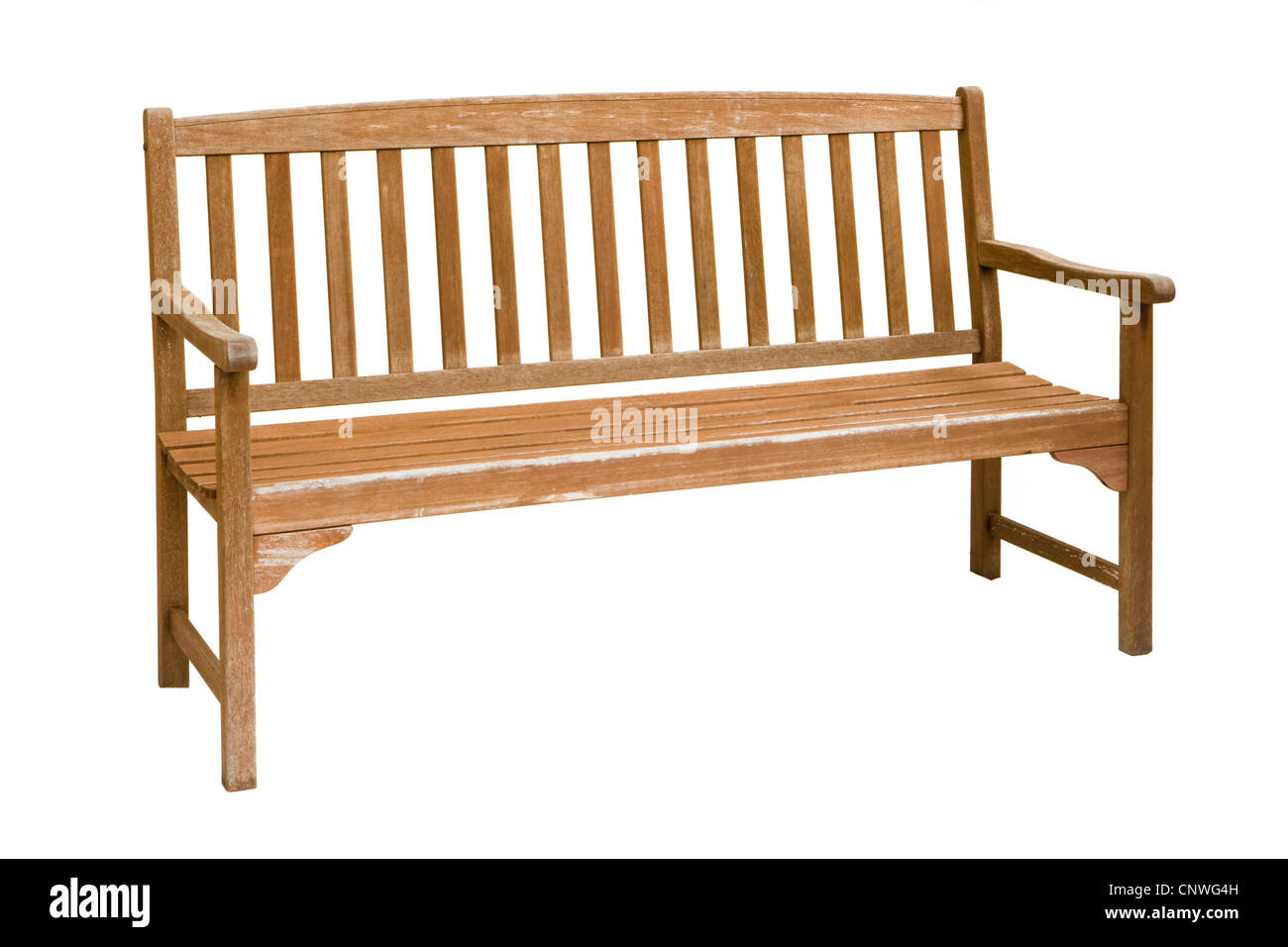Garden bench. Weathered. - Stock Image