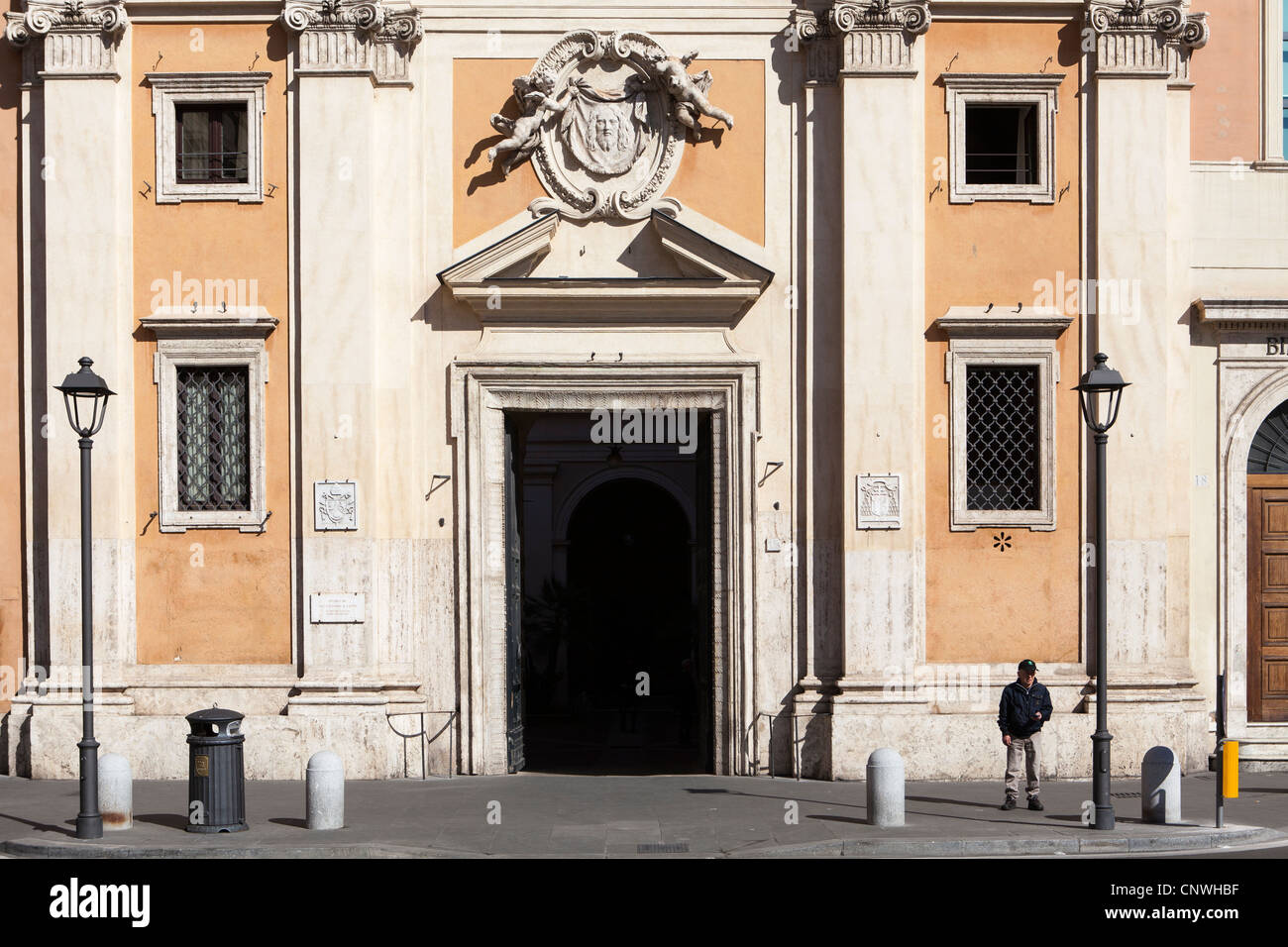 Façade of San Silvestro in Capite (Church of Saint Sylvester the First) interior, Rome, Italy, Europe - Stock Image