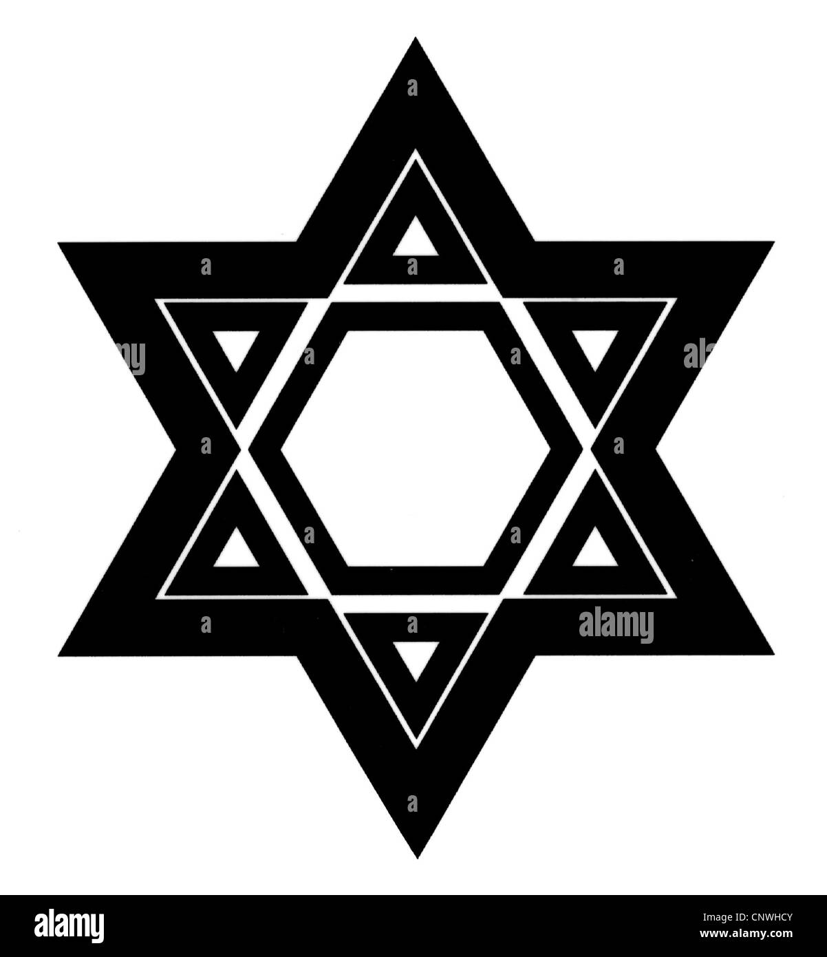 symbols, Star of David, computer graphics, Additional-Rights-Clearences-NA - Stock Image