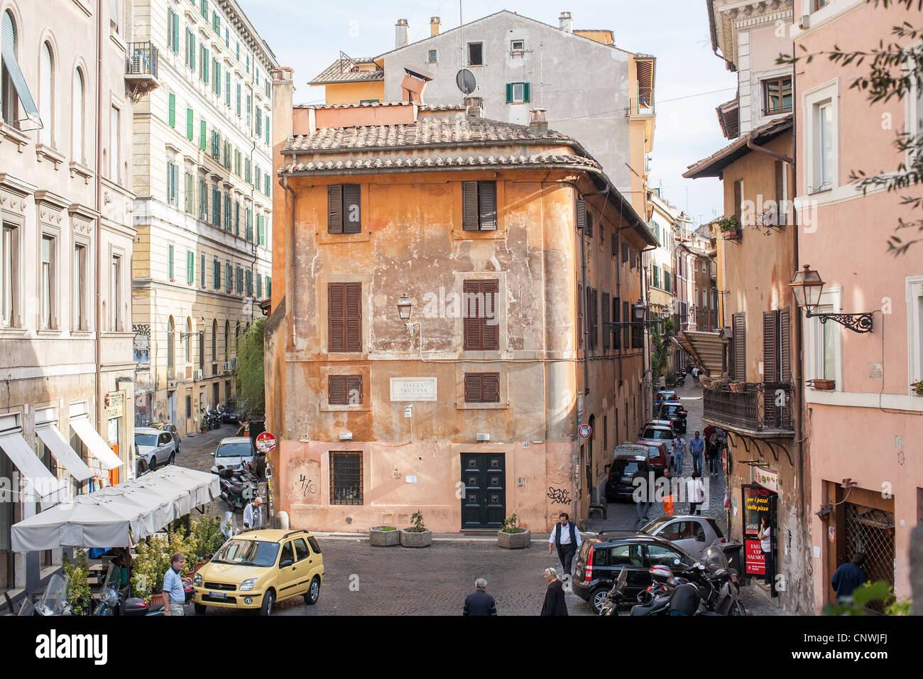 Piazza trilussa, Trastevere, Rome, Italy, Europe - Stock Image