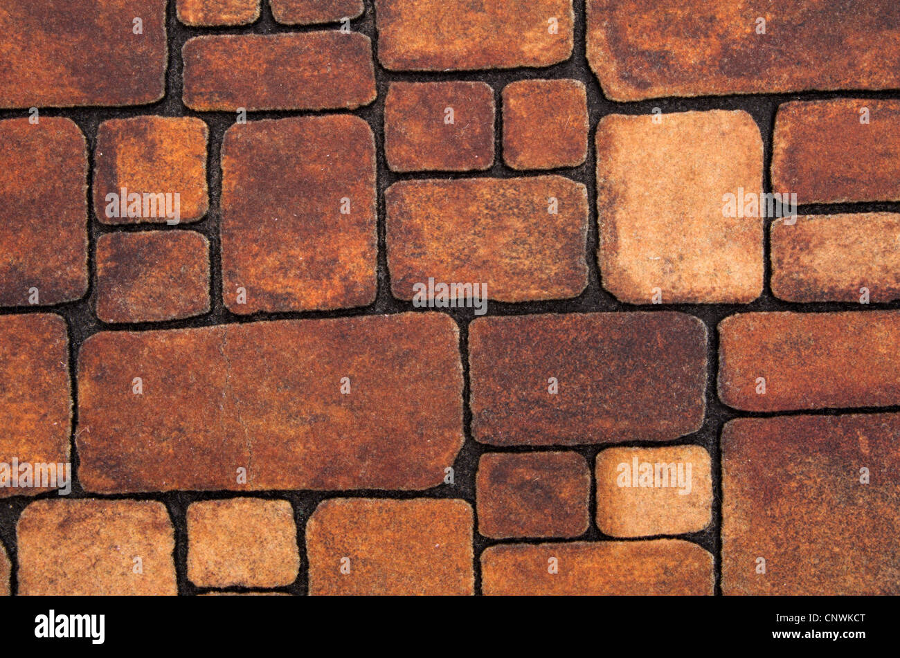 Background of stone wall texture - Stock Image
