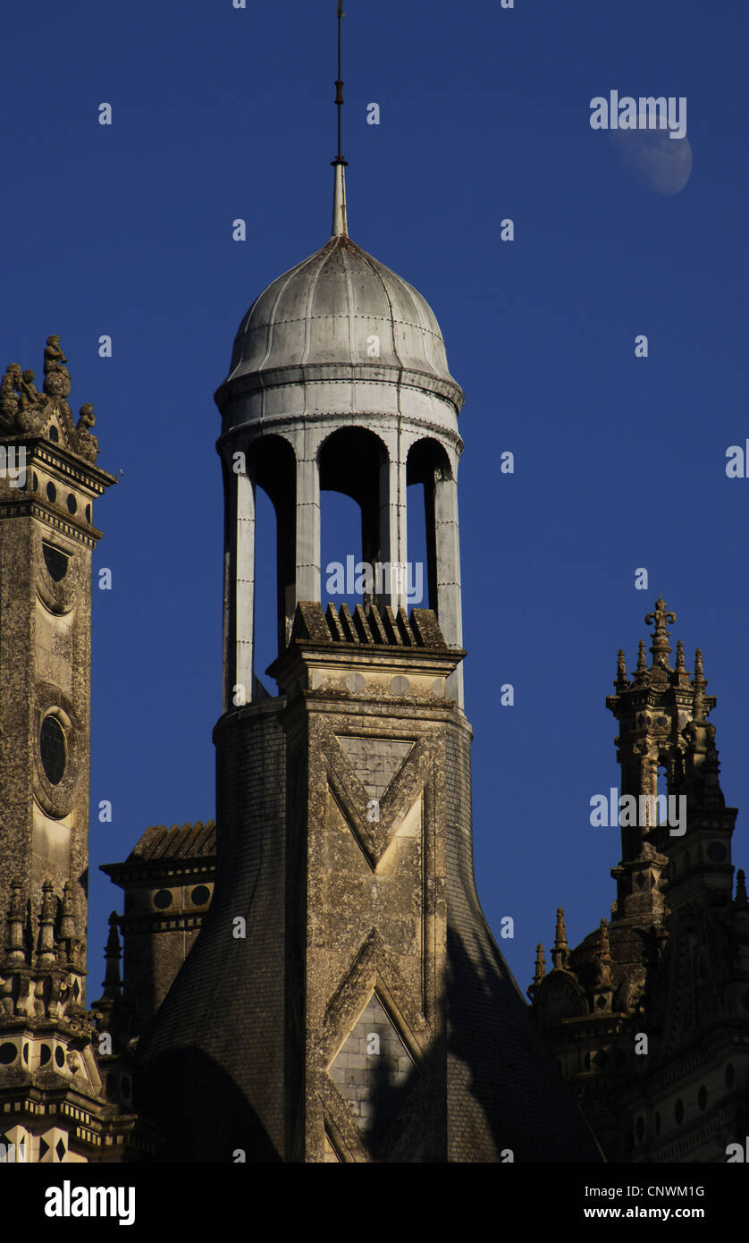 Renaissance Art. France. 16th century. Castle of Chambord, Exterior. Detail. Loire Valley. - Stock Image