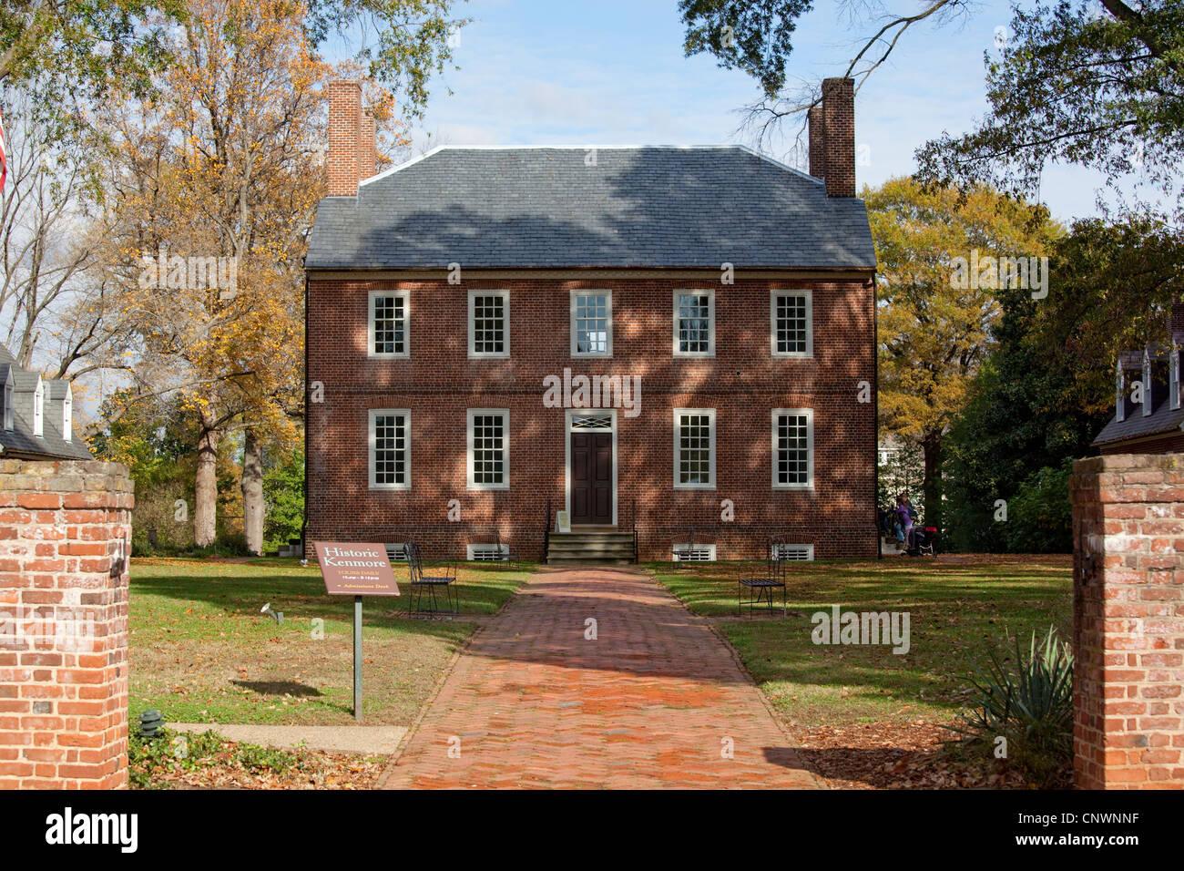 Fredericksburg - George Washingtons sisters plantation house