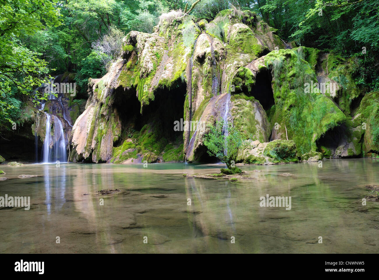 Cascade Des Planches Waterfall France Franche Comte
