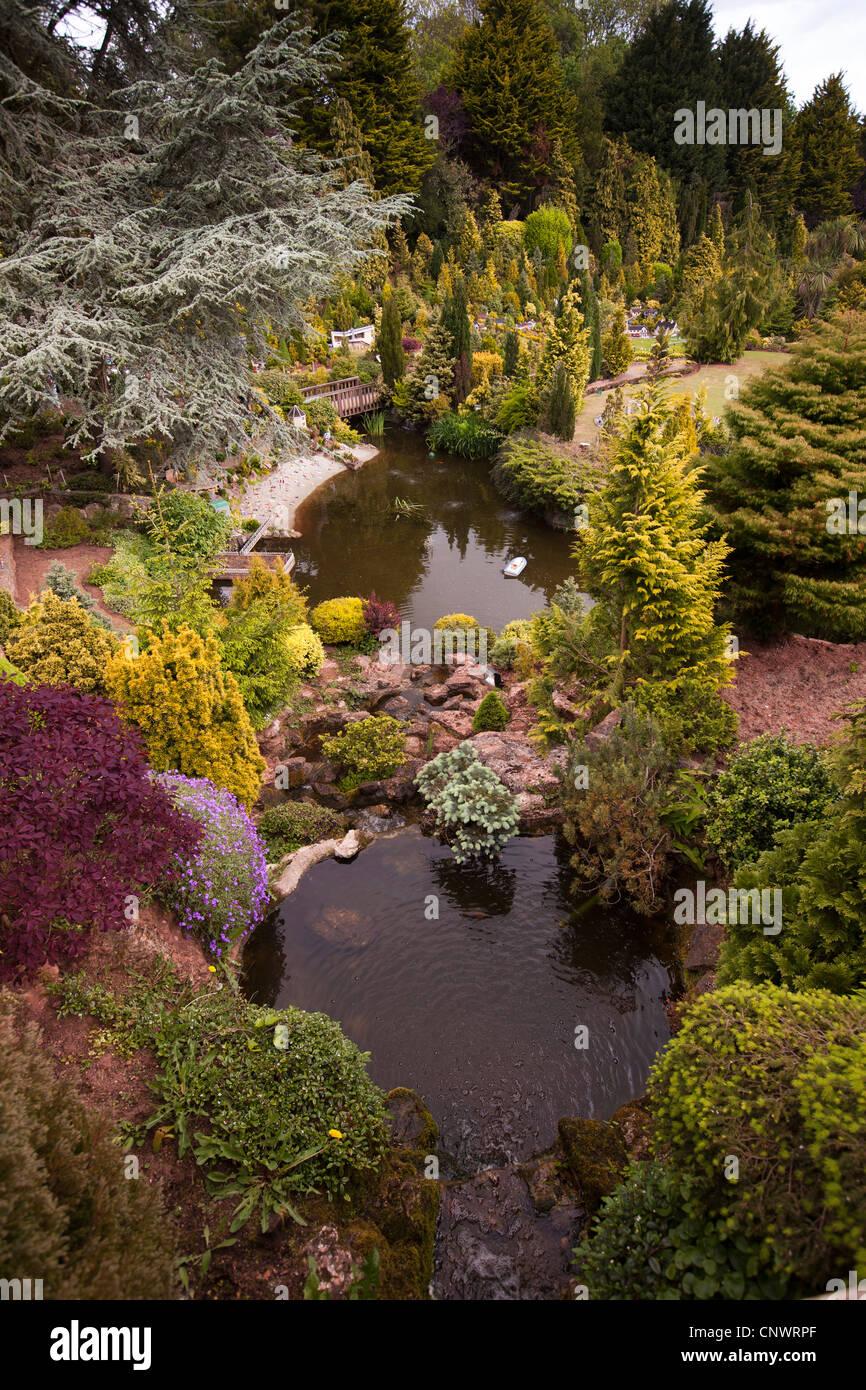 UK, England, Devon, Torquay, Babbacombe Model Village gardens Stock ...