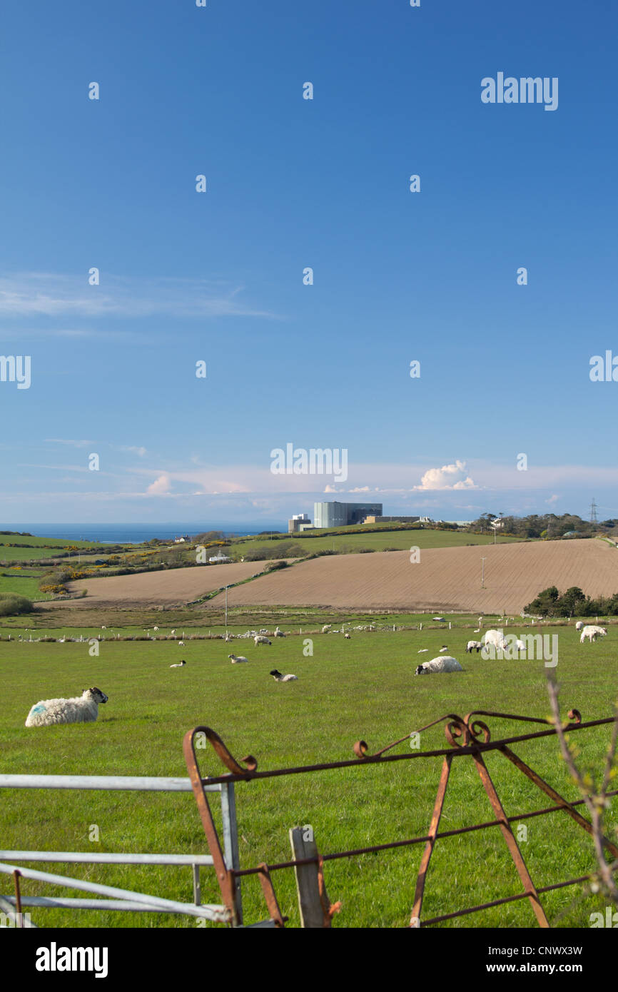 Wylfa Nuclear Power Station, Cemaes, Anglesey - Stock Image