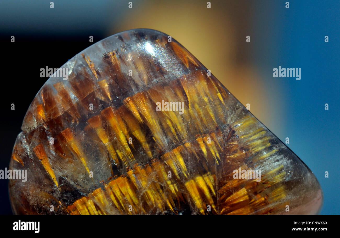 goethite crystals in quartz - Stock Image