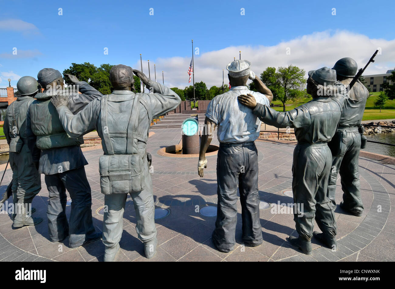 Pierre South Dakota World War 2 II Memorial - Stock Image
