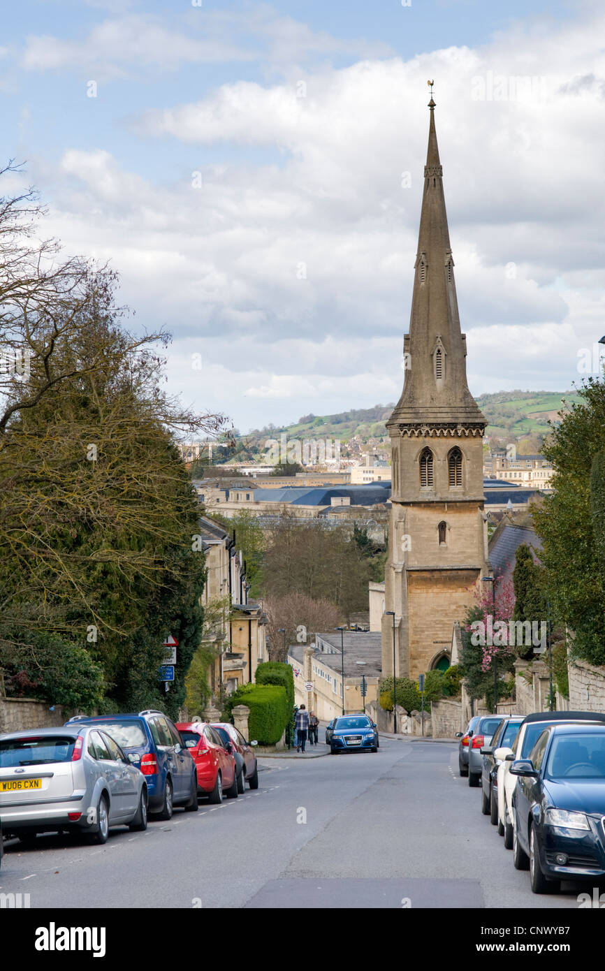 St Matthews and Widcombe hill parish hall, Widcombe Hill, Bath, uk - Stock Image