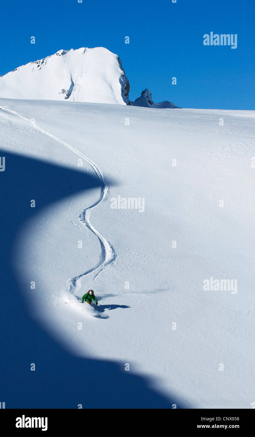 ski in Tignes ski resort, France - Stock Image