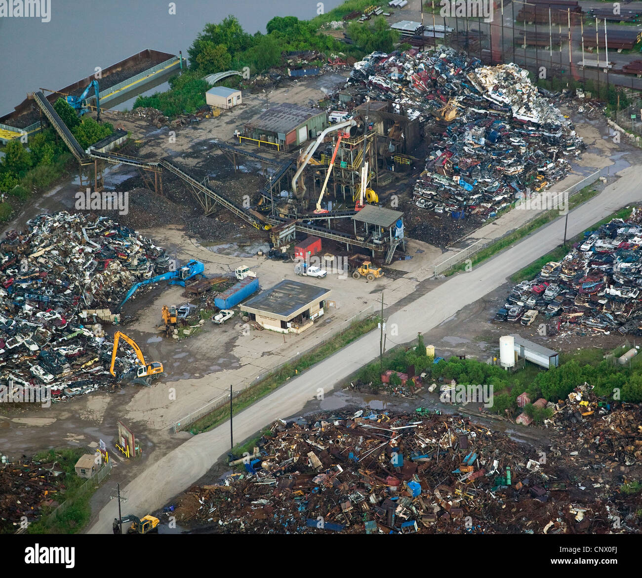Southern Recycling scrap metal Hurricane Katrina aftermath  Baton Rouge Louisiana - Stock Image