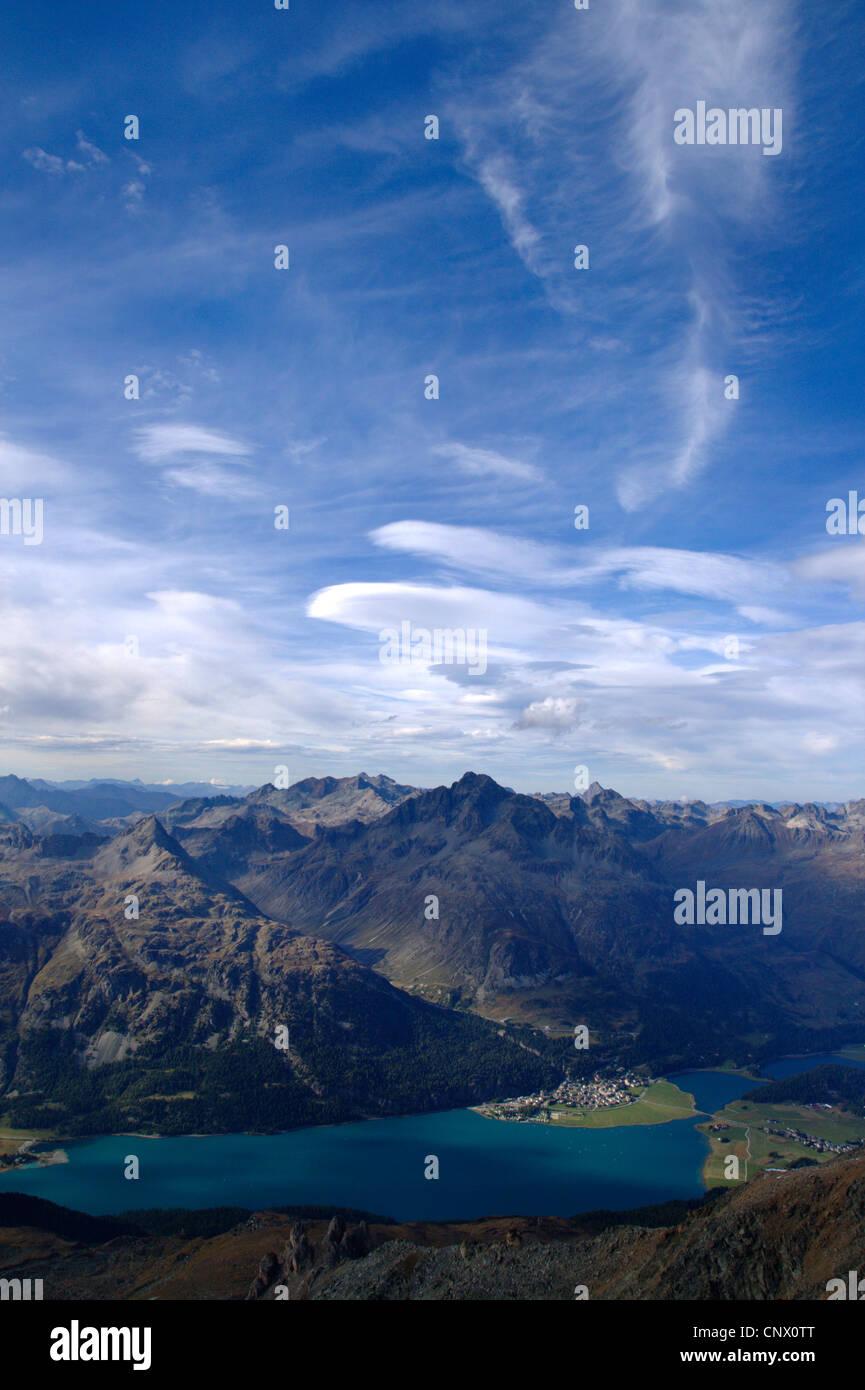 Lake Silvaplana, Switzerland, Engadine, Silvaplana Stock Photo