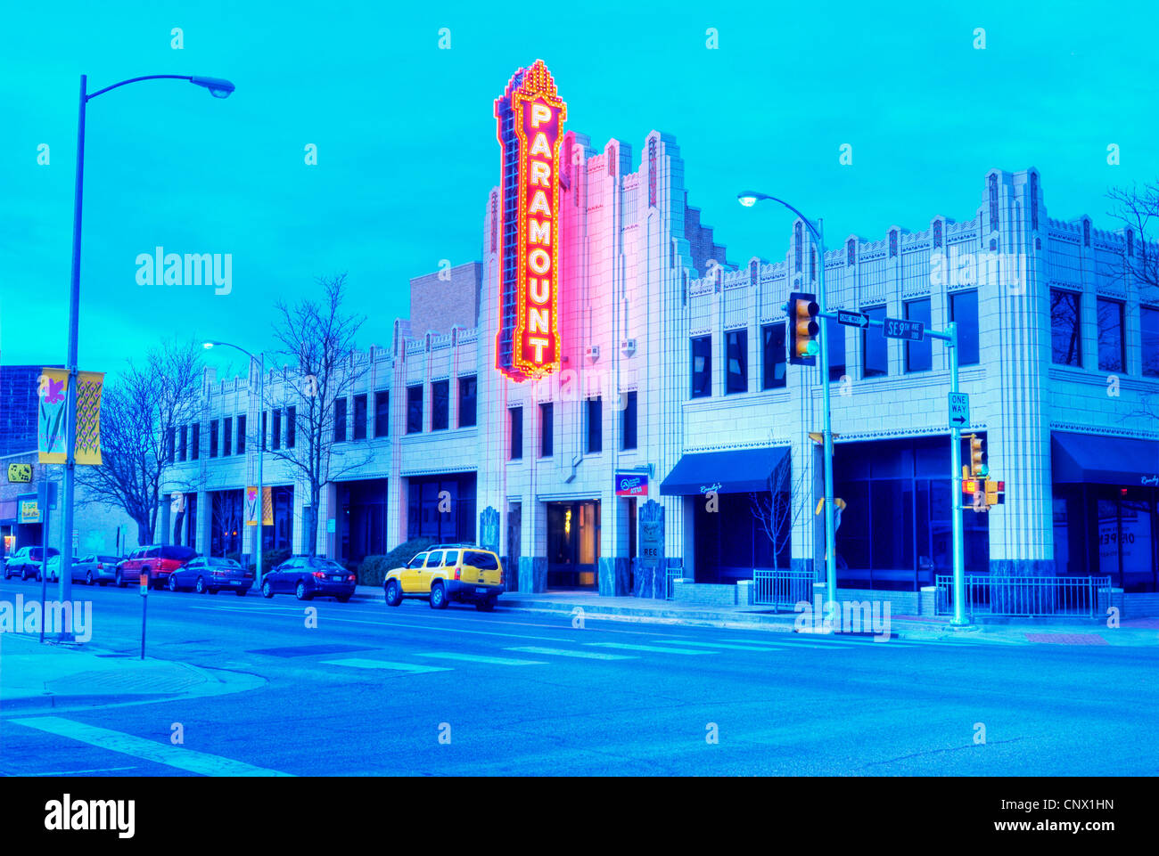 The Paramount Theater in downtown Amarillo, TX. - Stock Image