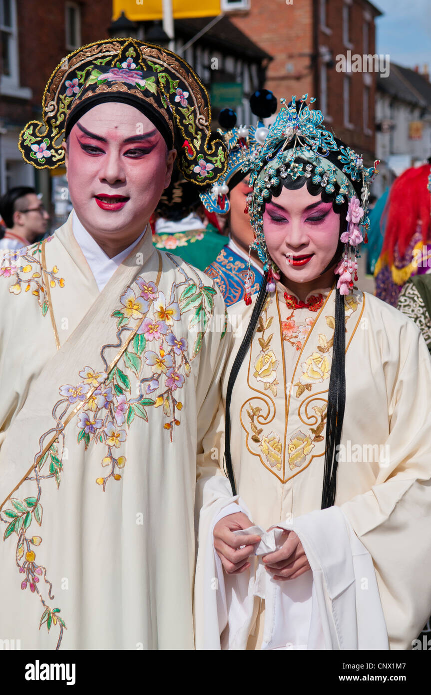 Performers from the Kunqu Opera at the William Shakespeare Birthday celebrations 2004 - Stock Image
