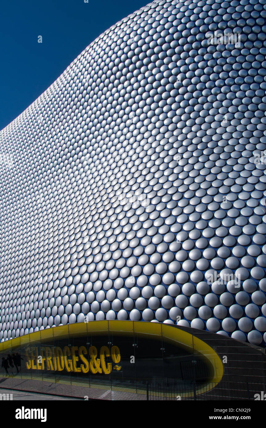 Abstract shapes of the modern Selfridges building in Birmingham, England. - Stock Image