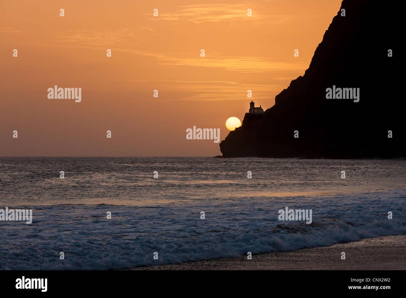 Sunset from a beach on São Vicente, Cape Verde Stock Photo