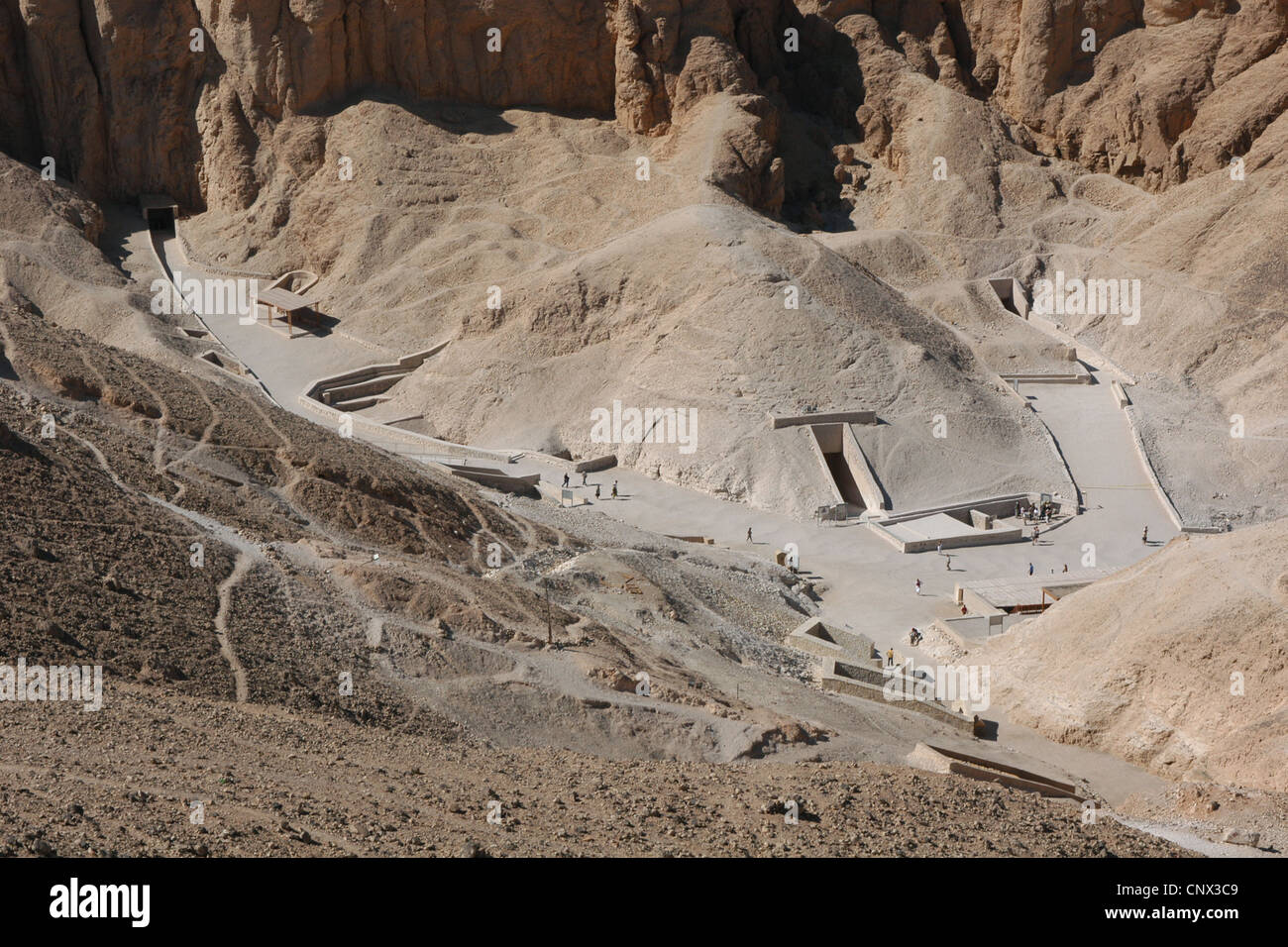 Tombs of Pharaoh Ramesses VI and Tutankhamun in the Valley of the Kings near Luxor, Egypt. - Stock Image