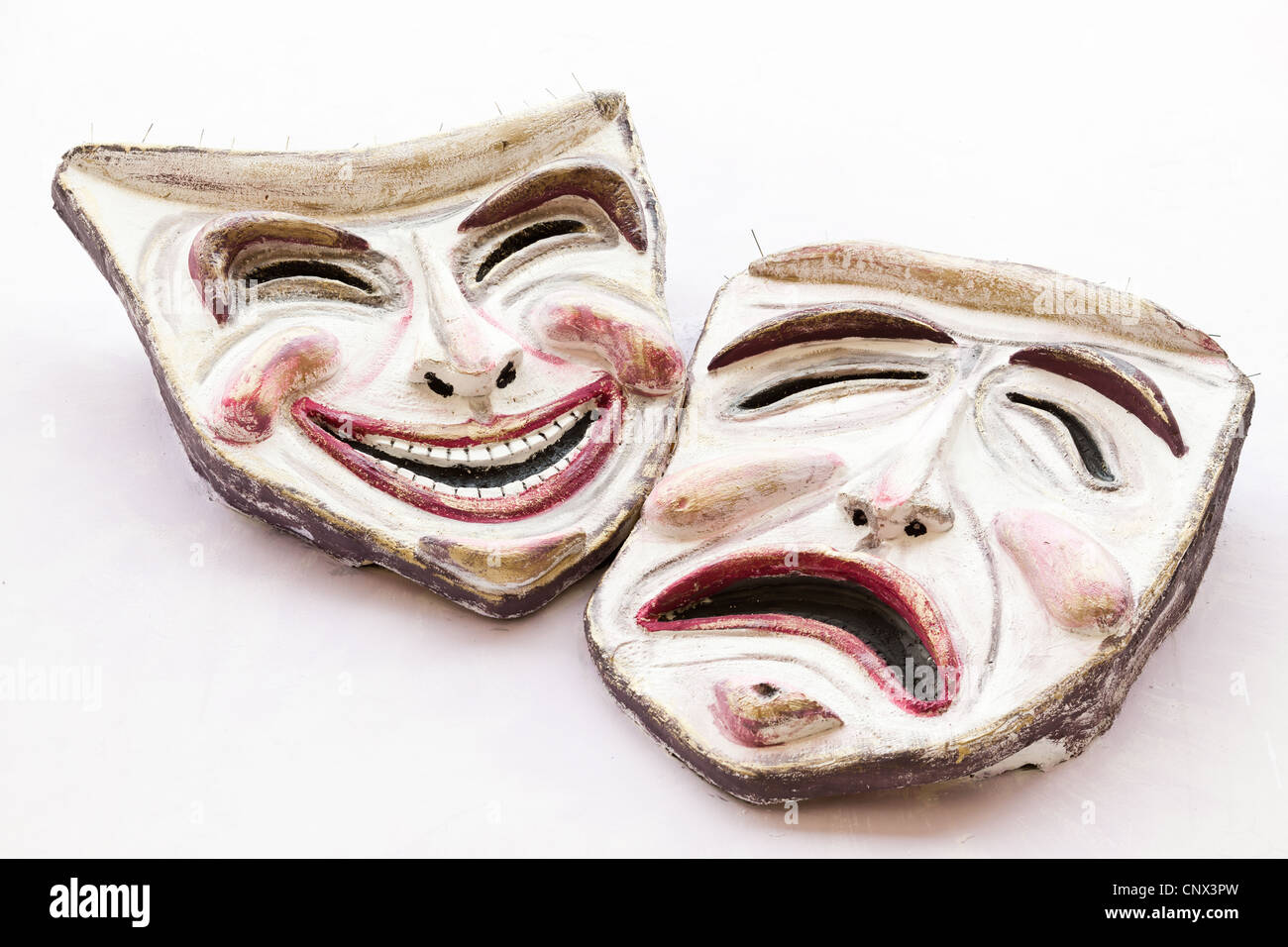 Comedy and tragedy masks, Vasto, Italy - Stock Image