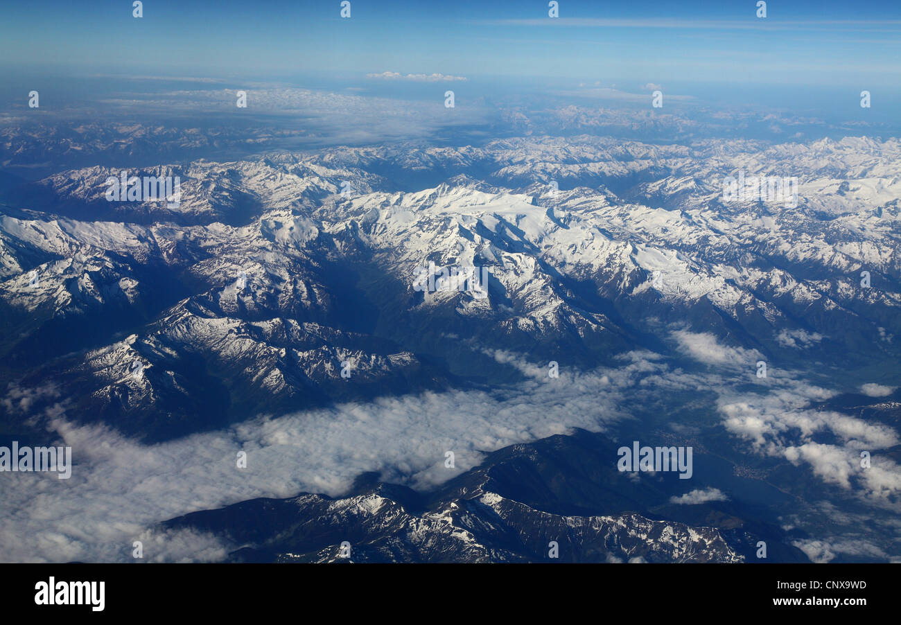 Alps with snow, Austria - Stock Image