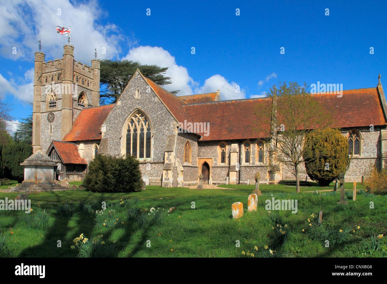 England Buckinghamshire Hambleden church Stock Photo