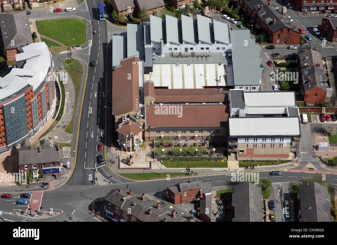 aerial view of Leeds College of Art & Design, Woodhouse Lane, Leeds Stock Photo