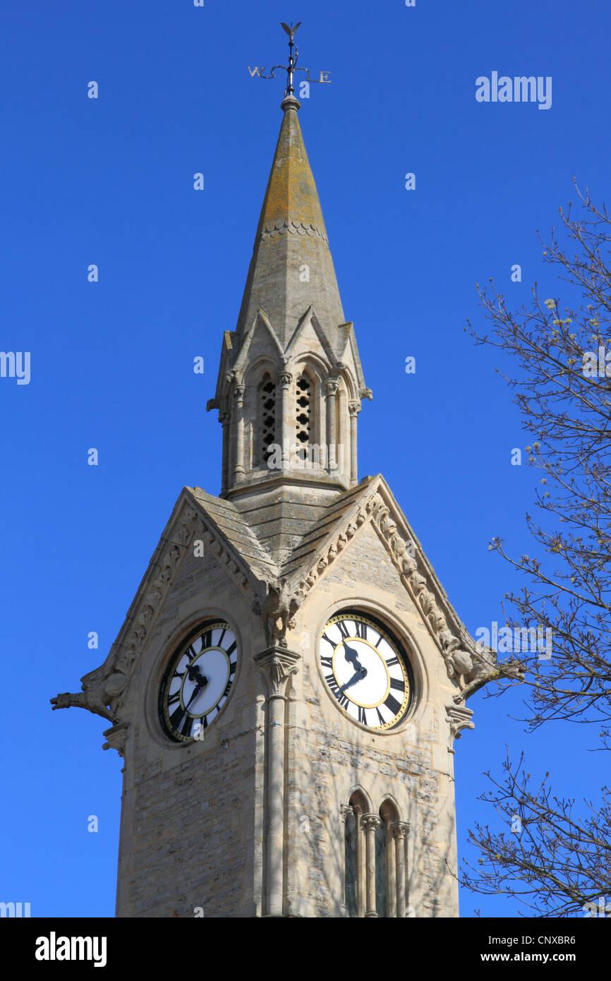 England Buckinghamshire Aylesbury Clocktower - Stock Image