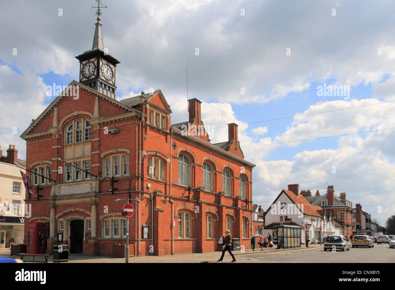 England Oxfordshire Thame High street Town hall - Stock Image