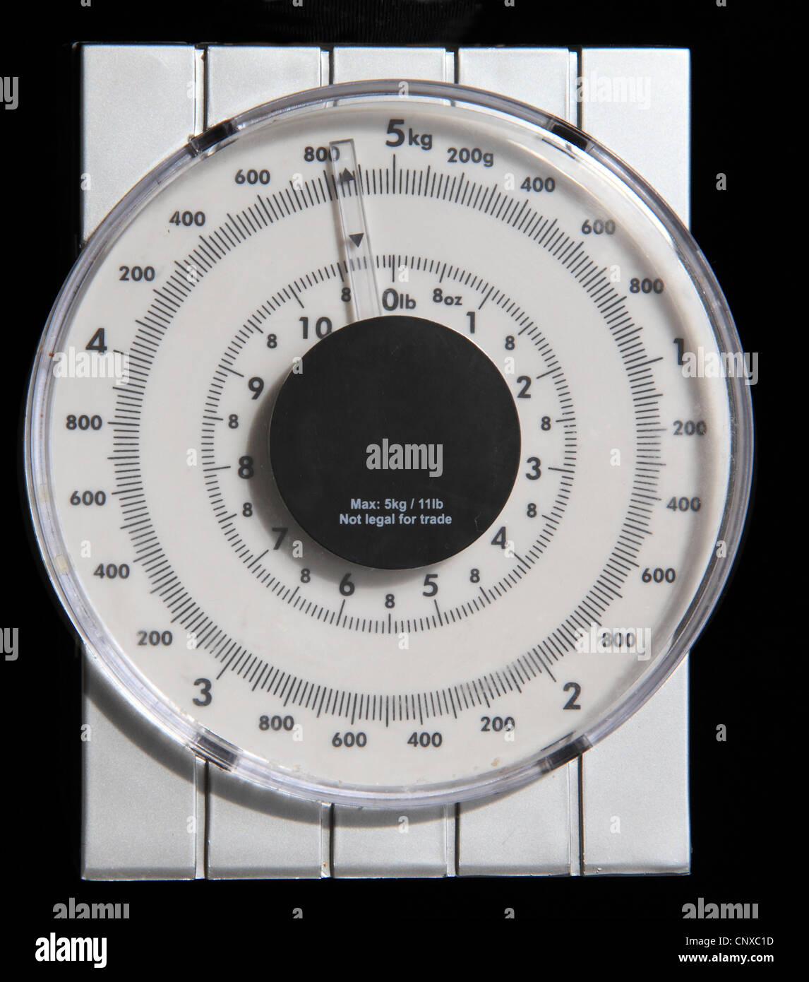 Scales with Kilograms & Pounds measures - Stock Image